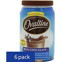 Nestle Ovaltine Rich Chocolate, 12-Ounce Tubs (Pack of 6)