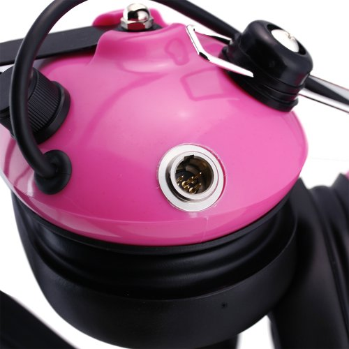 Rugged Radios H42-PINK Behind The Head Two-Way Radio Headset with Dynamic Noise Cancelling Microphone, Push to Talk, and 3.5mm Input Jack for Music & MP3 Players by Rugged Radios (Image #2)