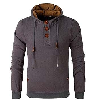 uninukoo-men clothes Unko Men' Sherpa Lined Fleece Hoodie