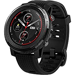 Amazfit Stratos 3 - Smartwatch Fitness, 19 Modos Deportivos, 3 Modos GPS, 70 días Batería (Ahorro), Sensor BioTracker, GPS Globass Beidou & Galileo, Versión extranjera, No tiene idioma español