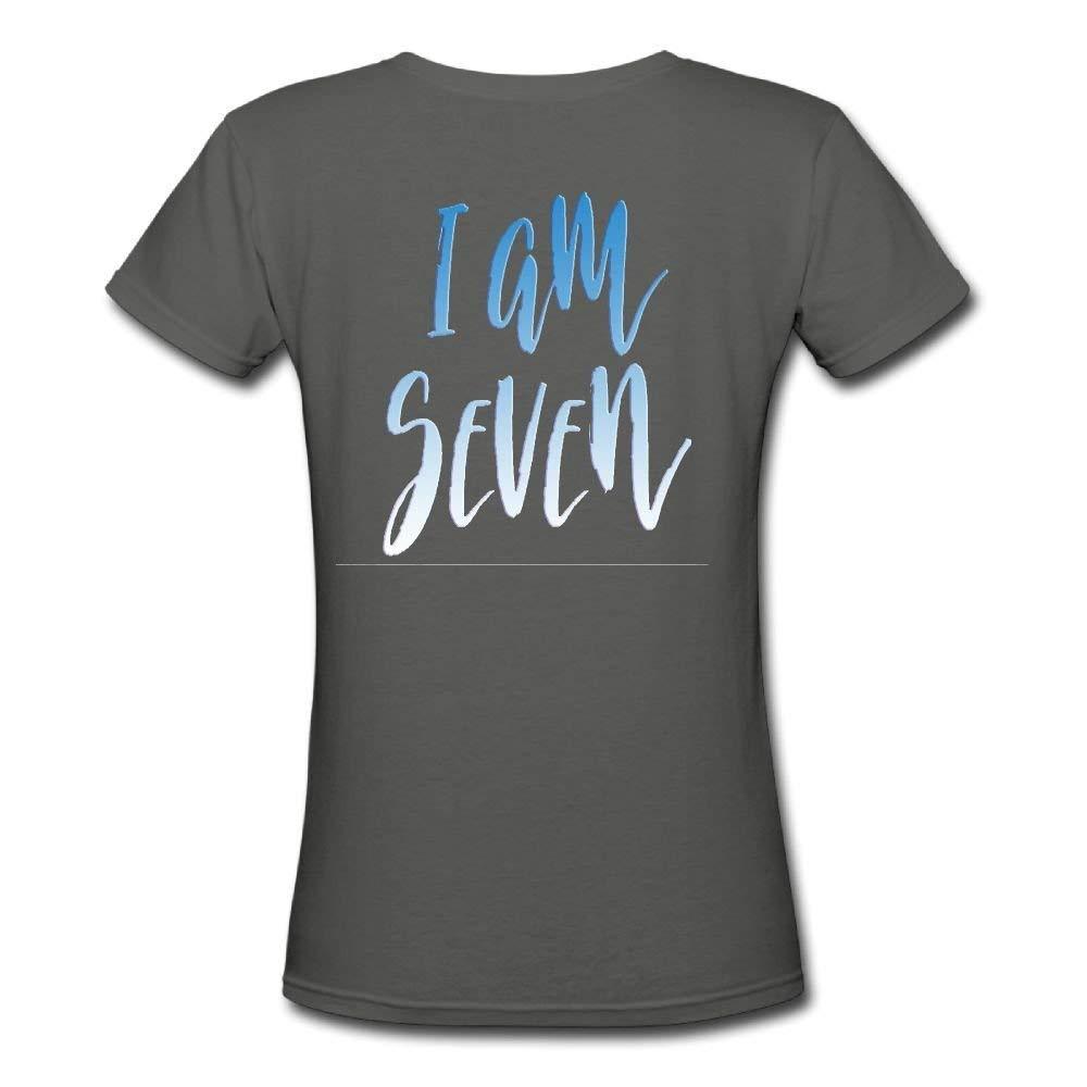 OPO-T I Am Seven Mujer Camisa Personalizado algodón Camisetas ...