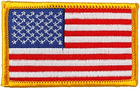 bb014c70a24b3 Simplicity American Flag Applique Clothing Iron On Patch, 2