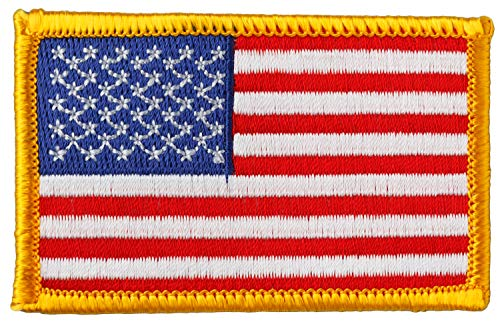 Simplicity American Flag Applique Clothing Iron On Patch, 2