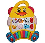 Best New Educational Baby Piano Toy. Play Musical Activity Center Learning Zoo Animals with Beautiful Lights for Toddlers & Infant