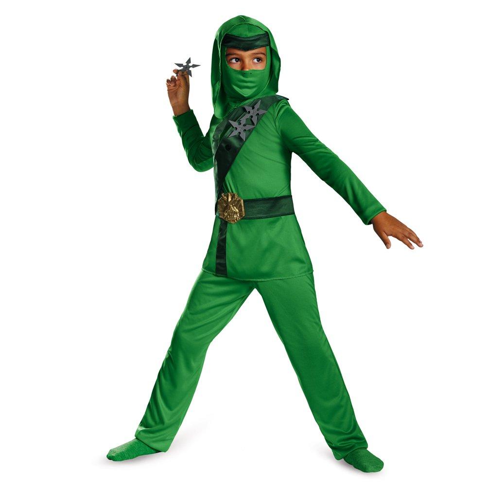Disguise Shadow Ninja Green Master Ninja Classic Boys Costume, One Color, 3T-4T