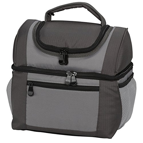 Large Dual Compartment Insulated Lunch Bag / Lunchbox ...