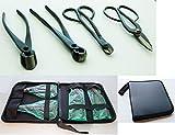 u cutter - U-nitt Premium 4-pc Bonsai Tool Set Carbon Steel: Wire Cutter / Concave Cutter / Knob Cutter / Ashinaga Shears with Leather Case