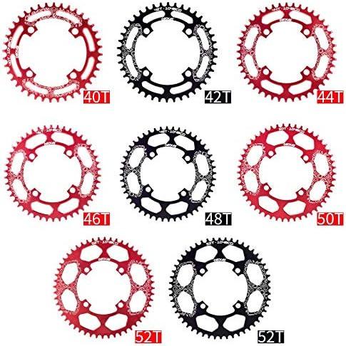 Color : Red, Size : 40T Disk Hxsj 104BCD Plato Grande 40T 42T 44T 46T 48T 50T 52T Bicicletas Chainring