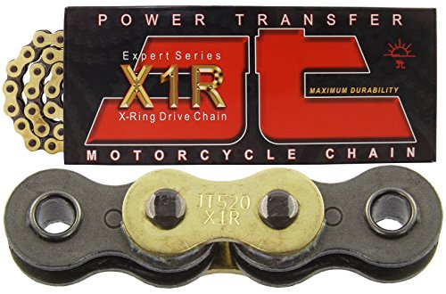 JT Sprockets JTC520X1RGB098DL Gold 98-Link Heavy Duty X-Ring Drive Chain (520X1R)