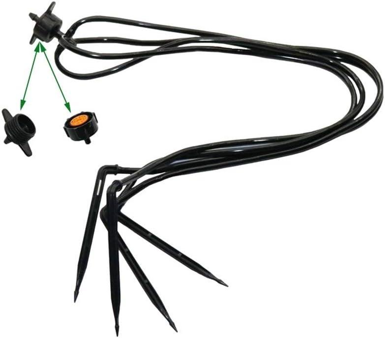 JYSLI Drips 30 Sets Of Curved Arrow Garden Drip Watering System Greenhouse Plants Garden Sprinkler Irrigation Products Splitter Device resist (Color : Black) Black