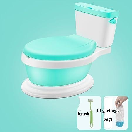 WC Escalera para Bebé Niño Niño Potty Training Inodoro Potty Toilet Silla de Entrenamiento para Niños Pequeños - High Back Baby Pottys 2 en 1 Taburete Infantil Green Pink 42 * 28 * 34cm: Amazon.es: Hogar