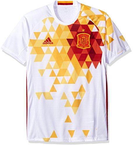 International Soccer Spain Men's Jersey, Large, White/Red - Team Football Jerseys For Men