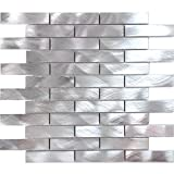 Modket TDH211MO Metal Metallic Aluminium Brick Joint Pattern Mosaic Tile Backsplash