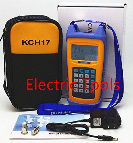Digital Meter Signal Level (Portable Dual Channel CATV Cable TV Handle Signal Level Strength Meter 48~865MHz With soft case)