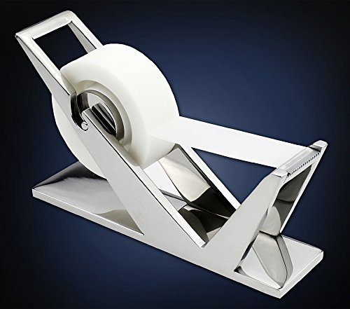 ArtsOnDesk Modern Art Tape Dispenser Mr102 Stainless Steel Mirror Polish Patented Luxury High-end Desk Accessory Office Organizer Cutter Thanksgiving Gift Christmas ()