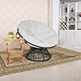 Solid Papasan Patio Chair Cushion Outdoor Egg Seat