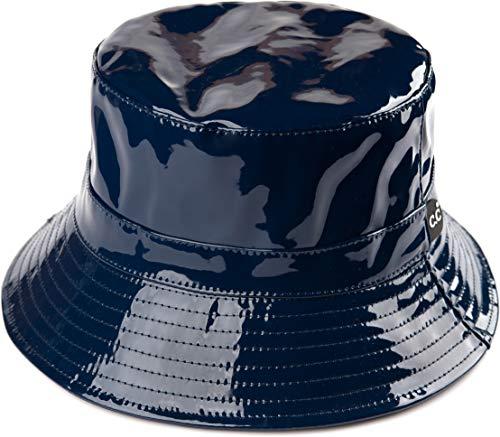 Funky Junque Bucket Hat Packable Outdoor Hiking Camping Fishing Rain Boonie Cap (Waterproof - Navy)