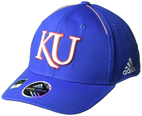 adidas NCAA Kansas Jayhawks Adult Men Coach's Structured Flex, Large/X-Large, Royal
