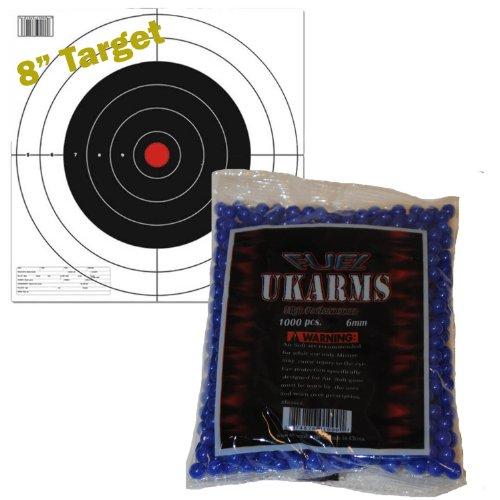 *BLUE* 1000 Precision Shot AIRSOFT BBs .12g 6mm Pistol Gun Sniper Rifle AMMO