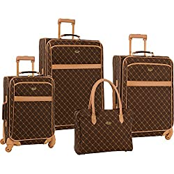 "Travel Gear Signature 4 Piece Set (16""/20""/24""/28"") Brown/Tan, One Size"