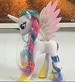 "CharmTM 5.5"" Princess Celestia Plastic My Little Pony Toy Figures Alicorn Unicorn White"