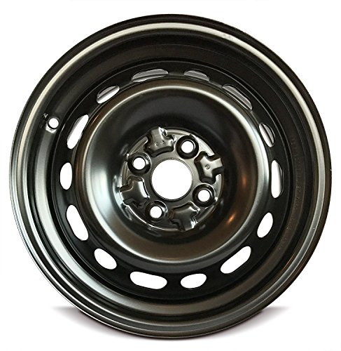 Road Ready Car Wheel For 2011-2014 Mazda 2 15 Inch 4 Lug Black Steel Rim Fits R15 Tire - Exact OEM Replacement - Full-Size Spare (Rims Mazda)