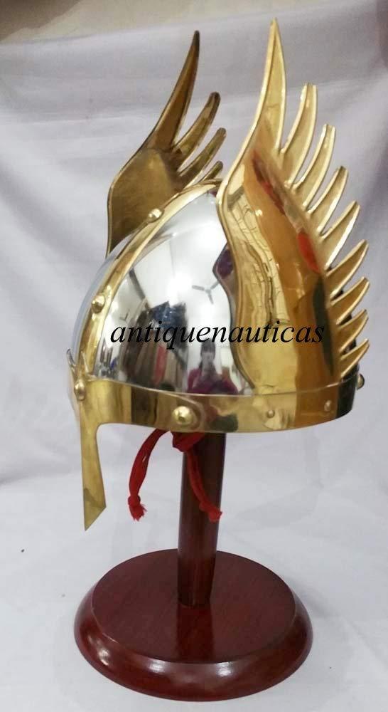 Shivi Shakti Enterprises Casco Medieval de vikinga Norman con Armadura Griega y Guerrero
