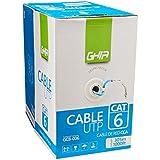 Ghia GCB-006 Bobina de Cable CAT6 UTP CCA, color Azul, 305 m