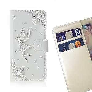 FOR Huawei Nexus 6P Fly Bling Bling PU Leather Waller Holder Rhinestone - - OBBA