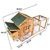 """GOJOOASIS 80"""" Outdoor Wooden Chicken Coop Hen House"""