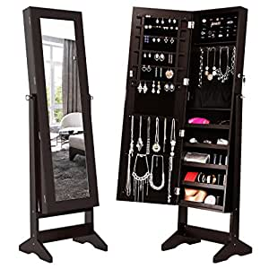 Amazoncom LANGRIA Lockable Jewelry Cabinet Jewelry Armoire with