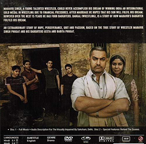 Amazoncom Dangal Brand New 2 Disc Set Hindi Language With