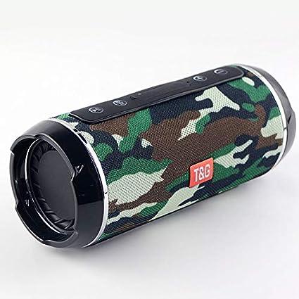 Digitalkey TG116 - Altavoz inalámbrico Bluetooth portátil y resistente al agua, diseño de camuflaje