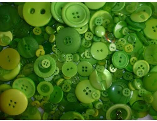 MIXED GREEN BUTTONS ASSORTED SHAPES SIZES ART CRAFT SEWING CARD SCRAPBOOK MAKE