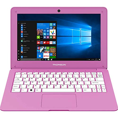 Pink Laptop Notebook - Thomson NEO12A2PK32 NEO 12 11.6 Intel Atom, 2GB, 32GB, Windows 10 Laptop - Pink NEO12A-2PK32