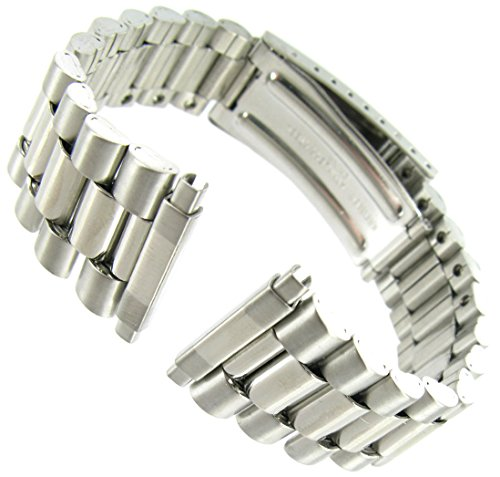 16-22mm Men's Stainless Steel Classic Watchband Replacement by NE Watchbands (Image #4)