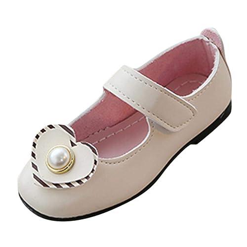 b63b0bb52240 Zapatos de Cuero para Niñas Otoño Invierno 2018 Moda PAOLIAN Zapatos de  Vestir Princesa Boda Casual Calzado Suela Blanda Antideslizante Merceditas  Regalo de ...