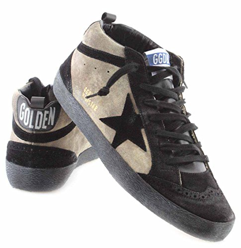 Golden Goose Scarpe Sneakers Uomo Mid star Camouflage Suede Black Star Italy New