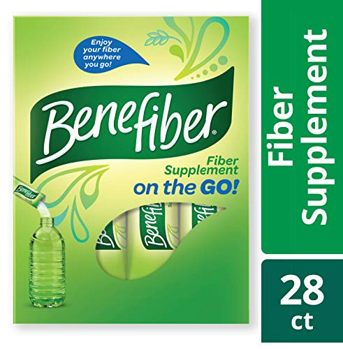 Benefiber Fiber Supplement Powder Stick Packs for Digestive Health, 28 sticks, 3.92 ounces ()