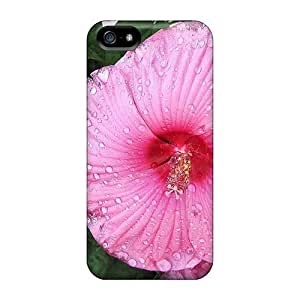 Hot Hibiscus After A Summer Rain First Grade Phone Cases For Iphone 5/5s Cases Covers