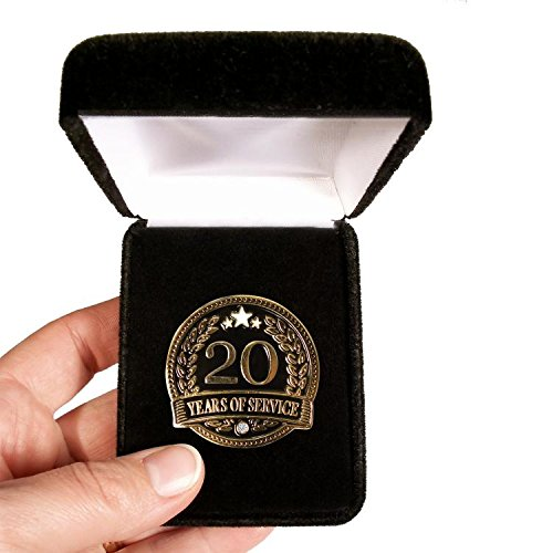Velvet presentation Box - 20 Years of service Lapel Pin