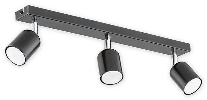 Techo Spot, Negro Lámpara de techo, orientable Foco Lámpara ...