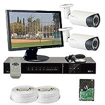 GW Security VD2CHH12 4 CH HD-SDI DVR 2 x HD-SDI 1/3-Inch CMOS Camera 720P Video Output 2.8 to 12 mm Lens, 78-IR LED, 180-Feet IR Distance