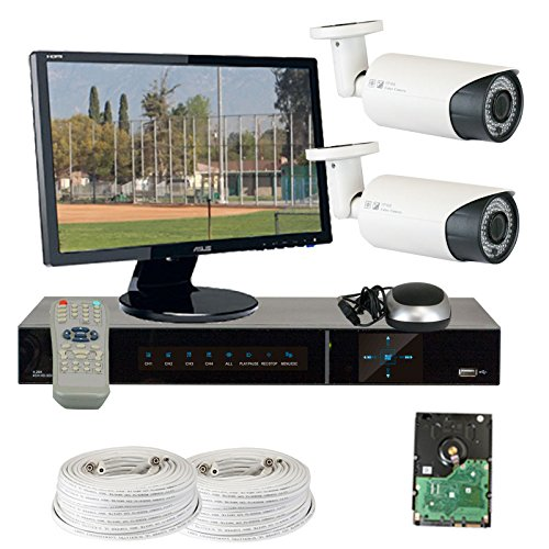 GW Security VD2CHH12 4 CH HD-SDI DVR 2 x HD-SDI 1/3-Inch CMOS Camera 720P Video Output 2.8 to 12 mm Lens, 78-IR LED, 180-Feet IR Distance