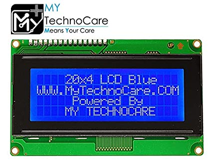 MY TechnoCare 20x4 LCD Display Blue BackLight For: Amazon in