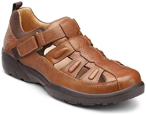 Dr. Comfort Fisherman Men's Therapeutic Diabetic Extra Depth Sandal: Chestnut 11.0 X-Wide (3E/4E) Velcro by Dr. Comfort