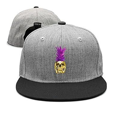 GOUDAI Glowing Golden Skull Pineapple Rose Unisex Womens Graphic Hip-hop Caps