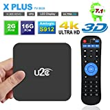 Android 7.1 TV Box,Amlogic S912 Octa Core [2GB RAM+16GB ROM] 64 Bit Smart TV Box Dual Band WiFi 2.4GHz/5GHz Model Media Player-U2C X Plus [2018 Newest]
