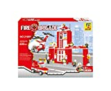 City Fire Station 911 Emergency 505pc Ausini Set Includes Fire Station Help Helicopter Red Emergency Car And Fire Men Compatible With Lego Parts