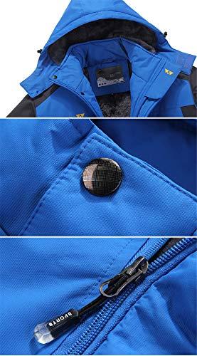 Impermeabile amp;meoostny Antivento Capispalla Invernali Parka Blue Cappuccio Uomo Navy Giacche Abbigliamento Con Cappotti Th 8dpaCC